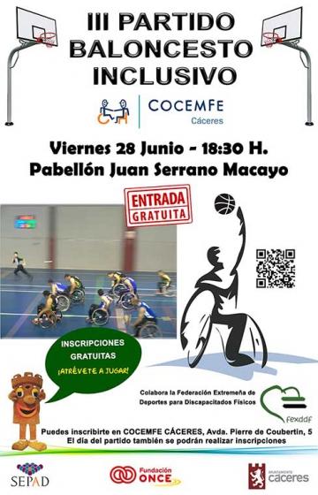 cartel torneo de baloncesto